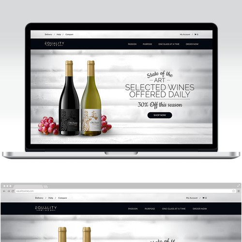 Sleek & sophisticated ecommerce site