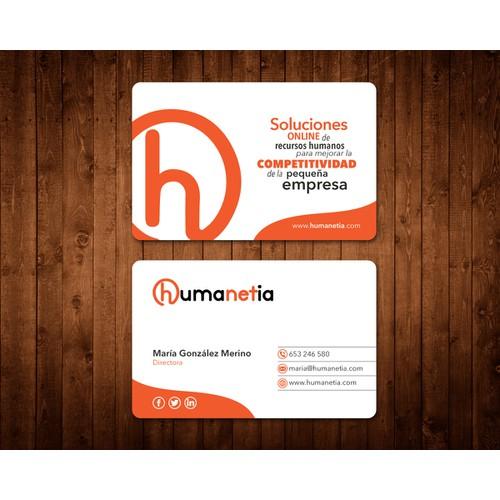 ¡Hola! Busco tarjeta de visita memorable para mi proyecto online.