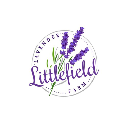 Logo concept for lavender farm
