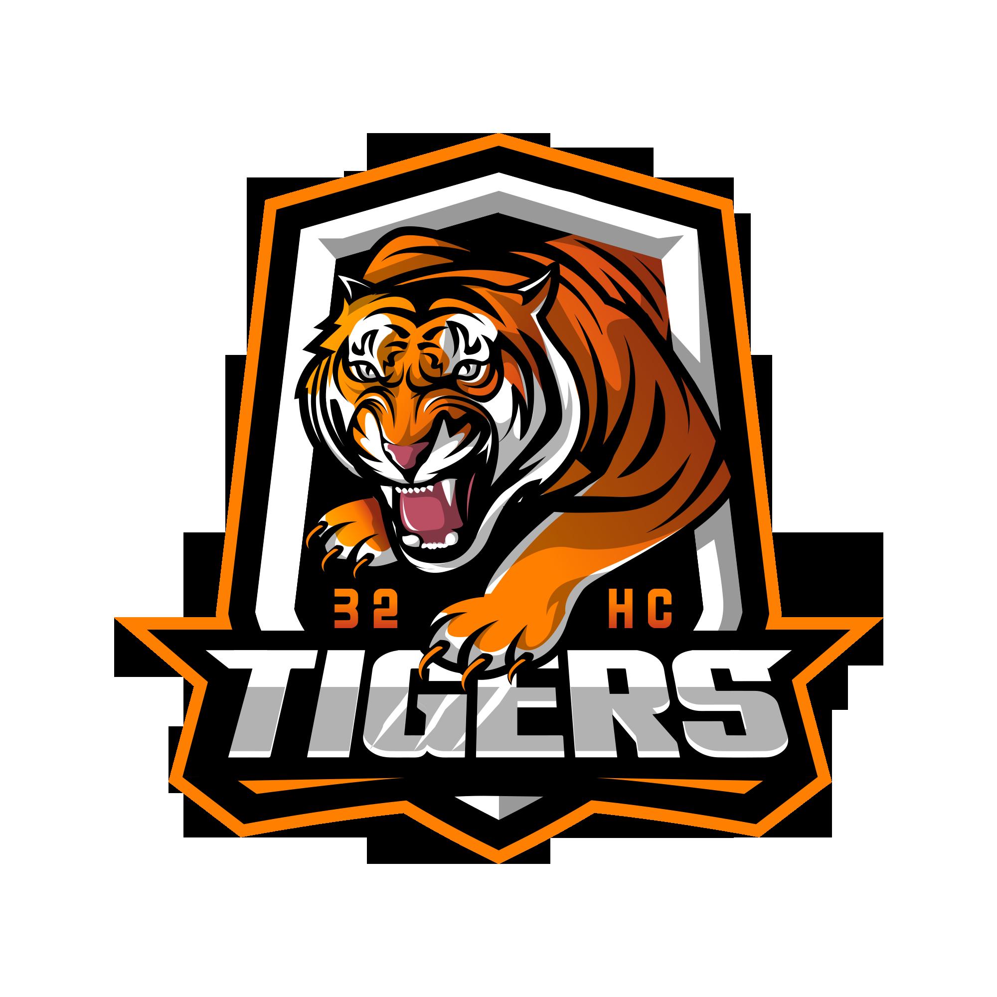 Army unit logo of an aggressive tiger