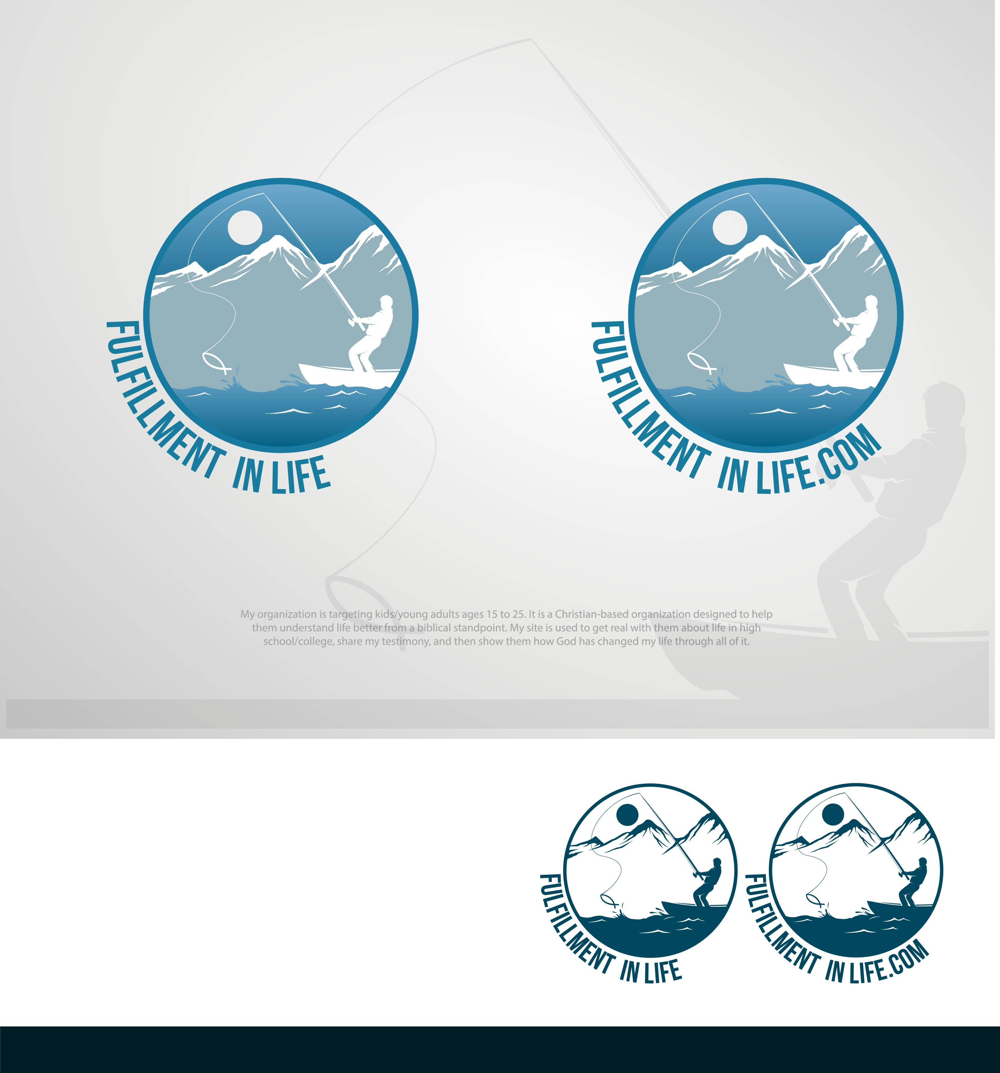 Create a beautiful, clean design logo for Fulfillment in Life