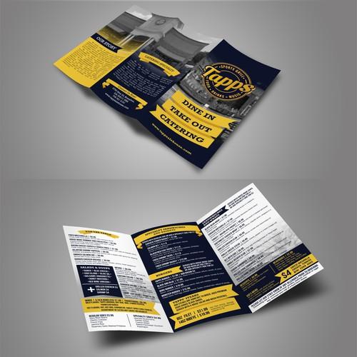 Brochure for Tapps Restaurant