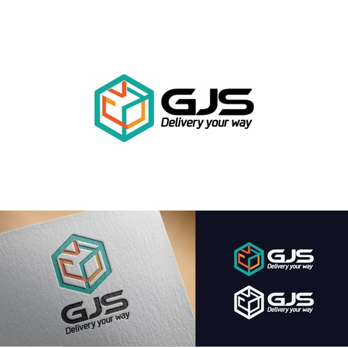 Package delivery logo concept