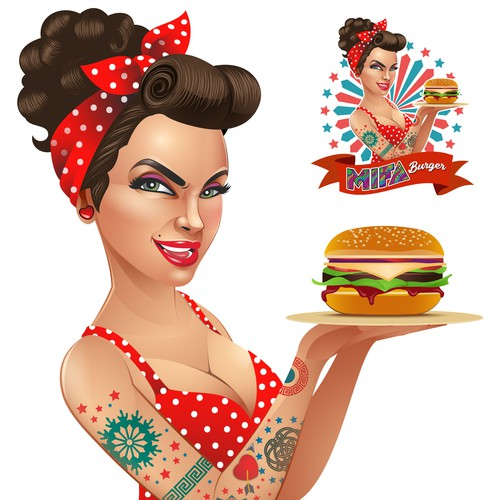 Pinup Girl Vector illustration