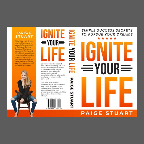 CLEAN, POWERFUL BOOK COVER TO IGNITE ACTION + PURSUE YOUR DREAMS