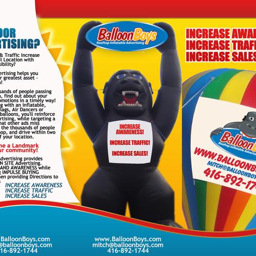 Balloon Boys needs a Great Brochure designed