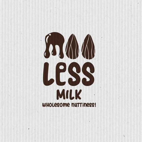 Logo for almond milk company