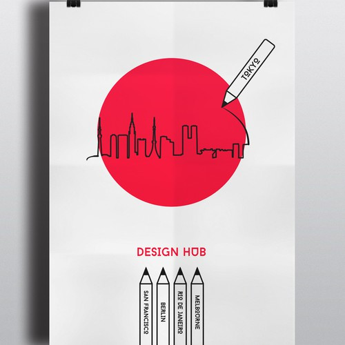 poster promoting Japan as the next international creative hub