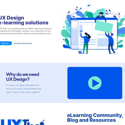 Logo and landing page concept