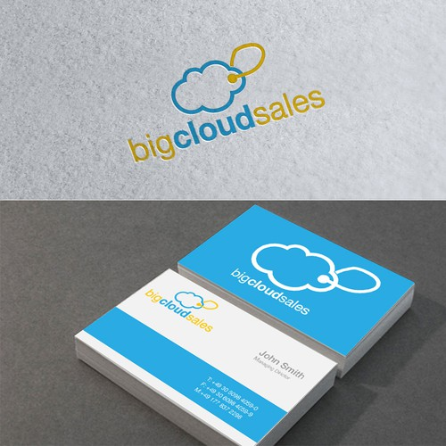 Create the next logo and business card for big cloud