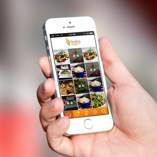 Design an App for popular food browsing website