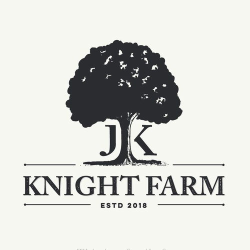 timeless logo for a newly established family farm