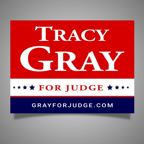 Sign for Tracy Gray