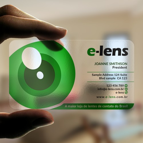 Crie um cartão de visita para o maior ecommerce de lentes de contato do brasil