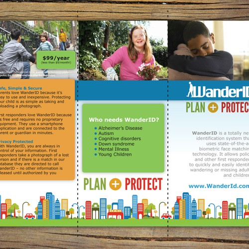 Brochure re-design for WanderID (to match new design at www.wanderid.com)