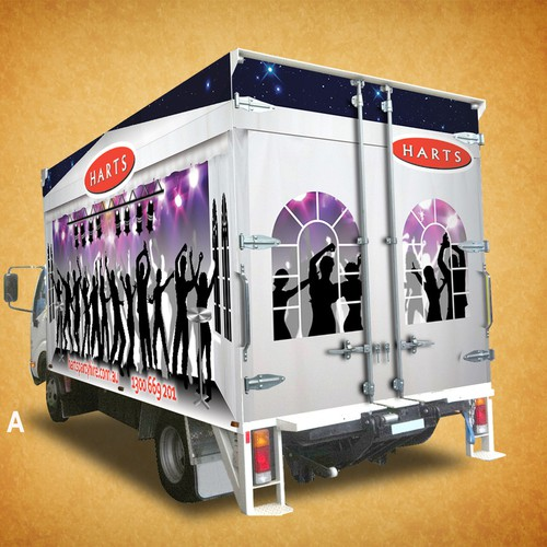 Create the next design for Harts Party Hire