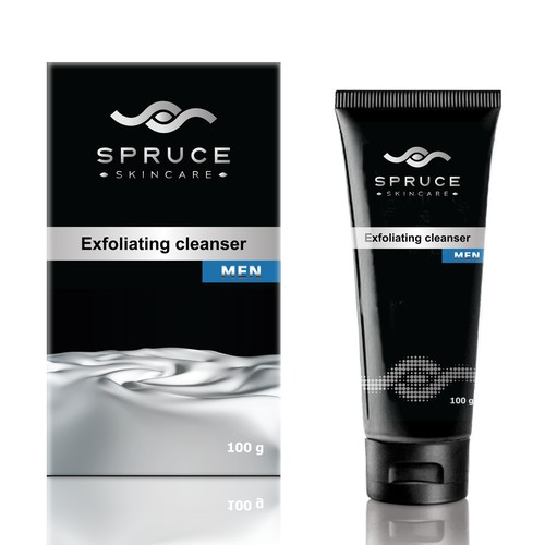 Product packaging for men's skincare products