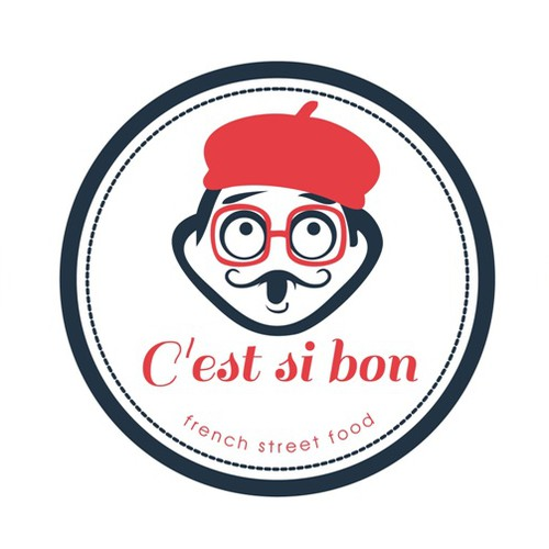 Create an appealing logo for a French food truck design