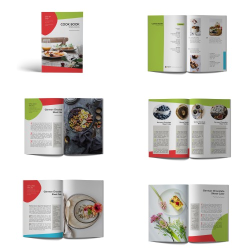 example pages for a cook book