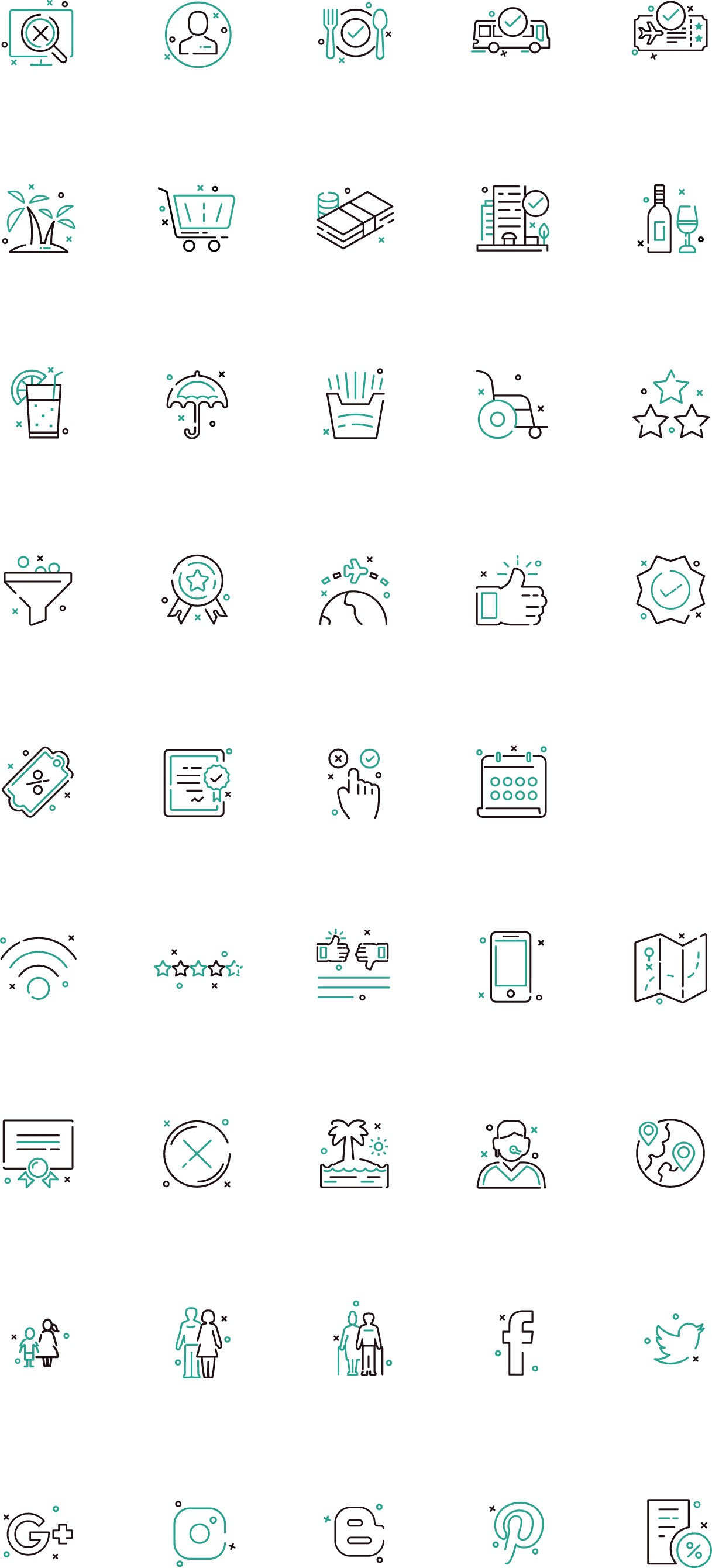 14 new icons from previous 30 icons project