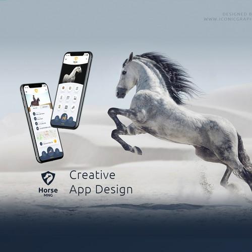 Horse Farm App Design
