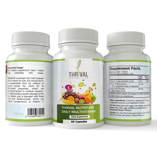 Daily Multivitamin Bottle