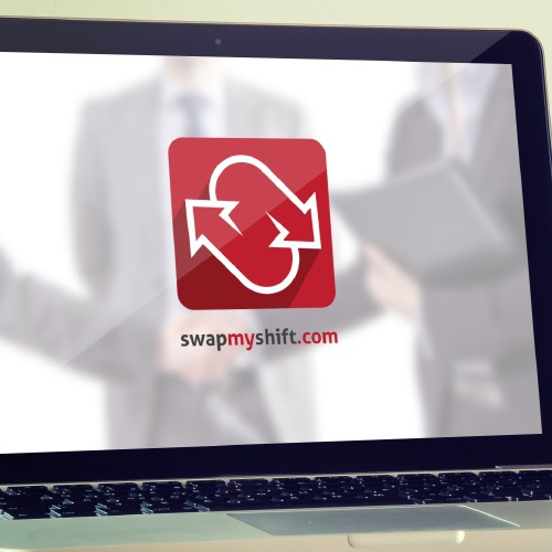 Create a new logo for an upcoming website launch for SwapMyShift.com