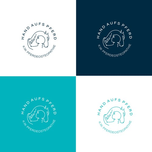 Horses care logo concept.