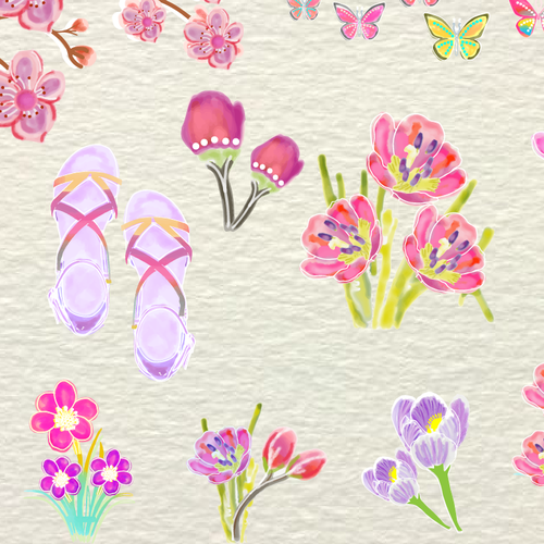 Spring themed Stickers