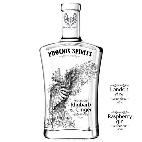Label design for Phoenix Spirits