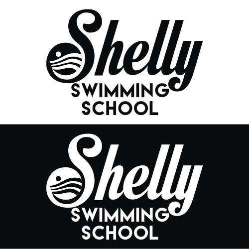 Create a unique illustration to promote a champion Swim School
