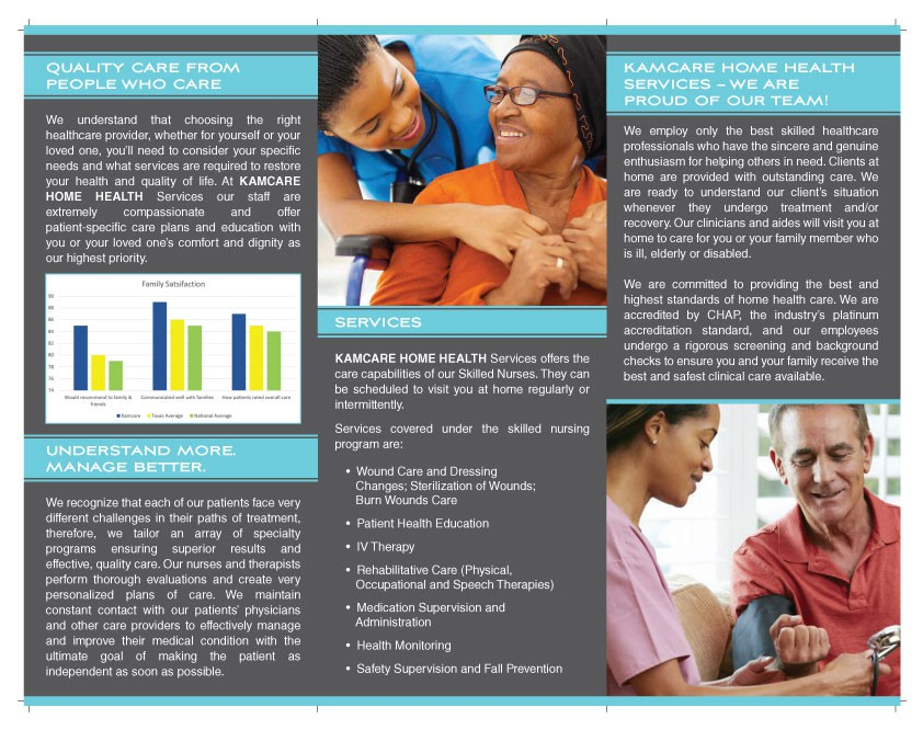 Create an attractive and clean brochure that will attract baby boomers to our company's services
