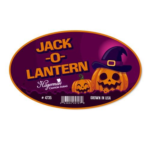 Jack-o-Lantern Pumpkin sticker for local farm