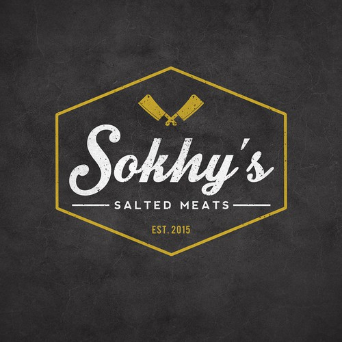 Logo concept for Sokhy's Salted Meats