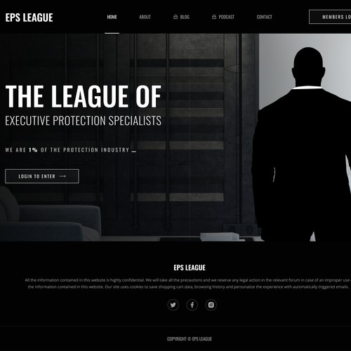 Website design for a company that specializes in training Executive Protection Agents.