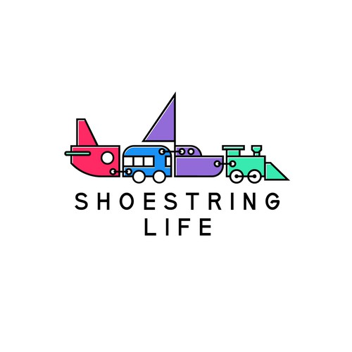 """Logo design concept for """"Shoestring life"""""""