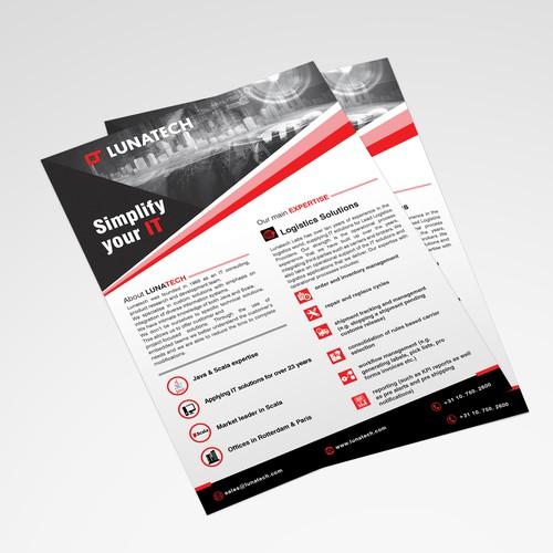 A4 leaflet for www.lunatech.com