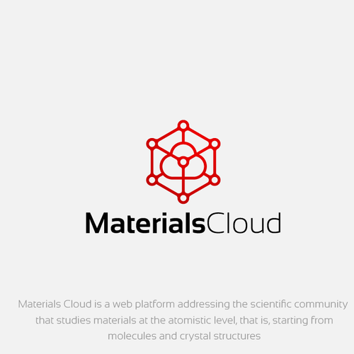 High tech scientific research logo for MaterialsCloud