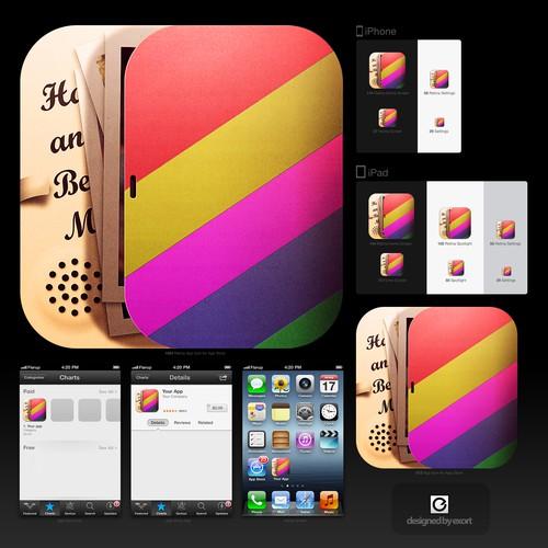 icon or button design for DescubriendoApps