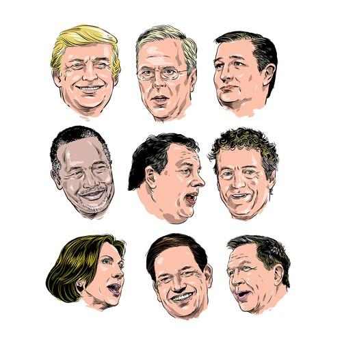 republican candidates illustration
