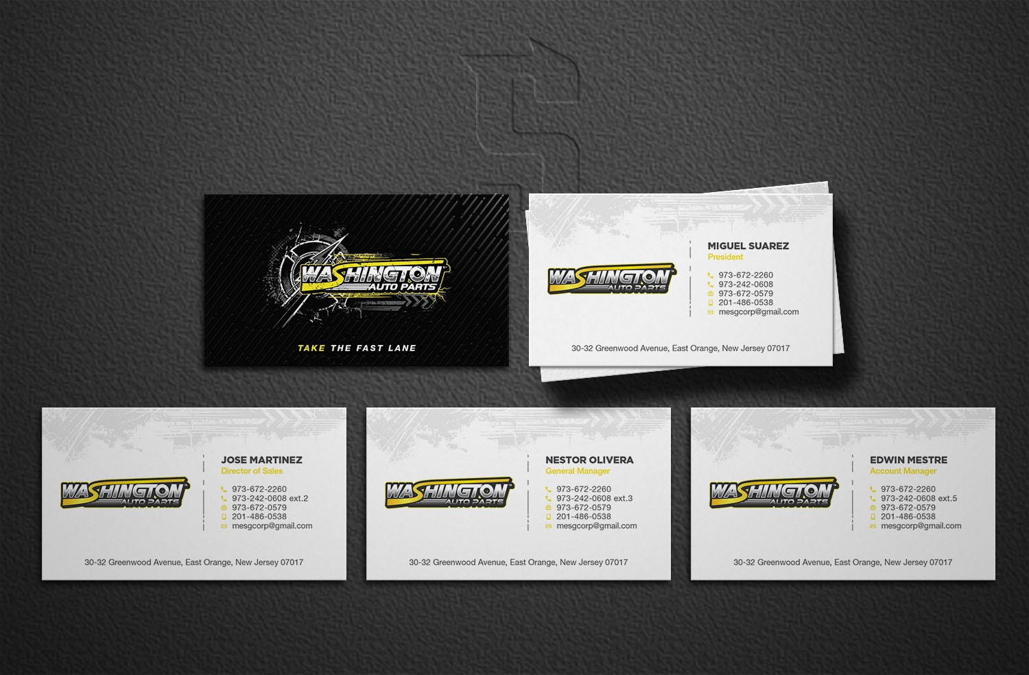 Auto Parts Owner's Business Card - Help Me Sell the Brand