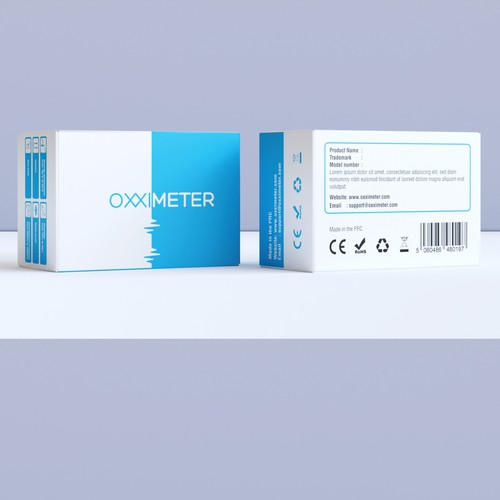 Simple, modern design concept for Oxximeter