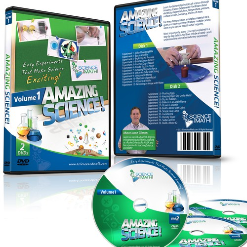 Design a Science DVD (Cover Art and Disk Art)