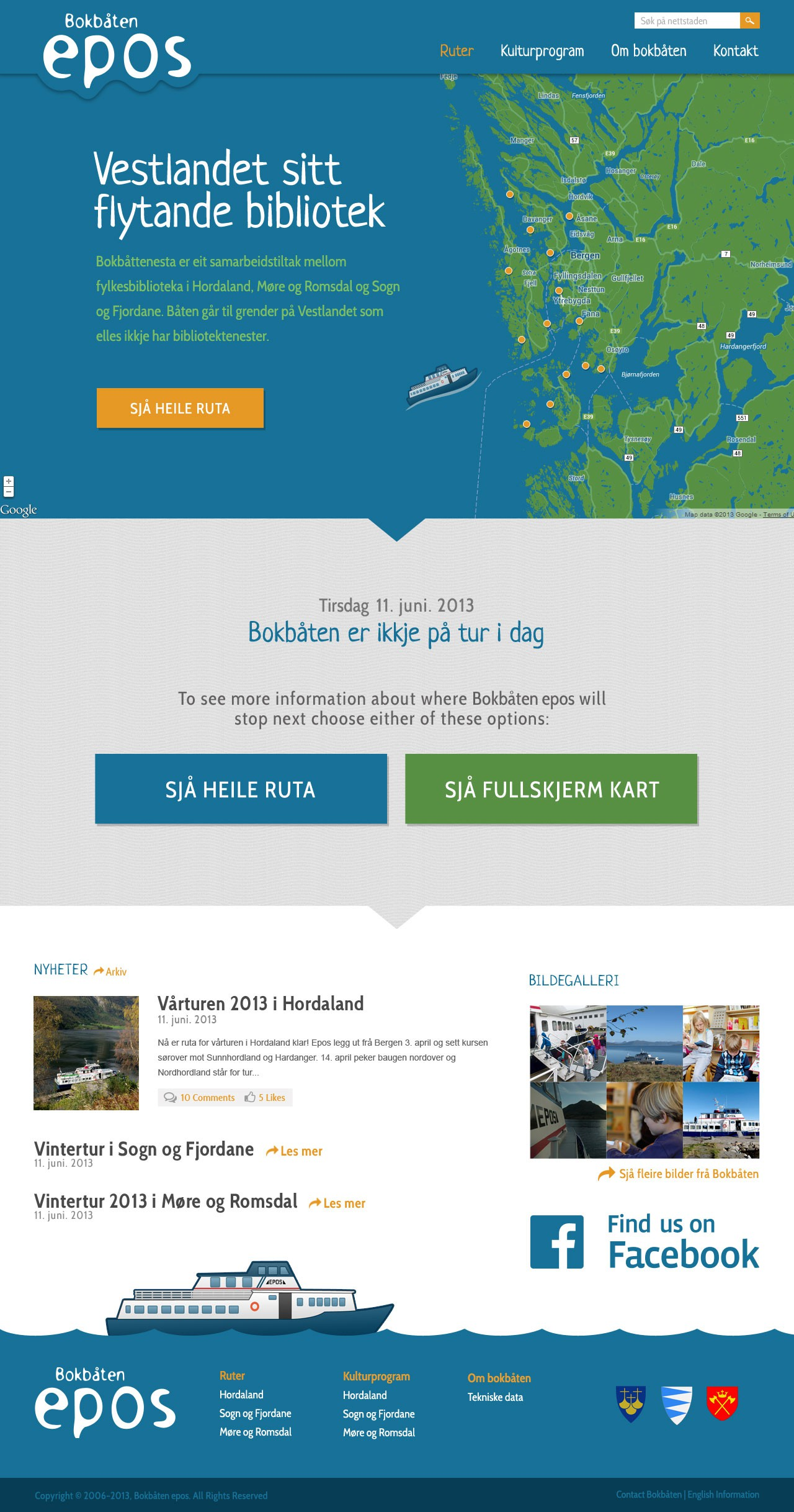 Create the next website design for library ship (!)