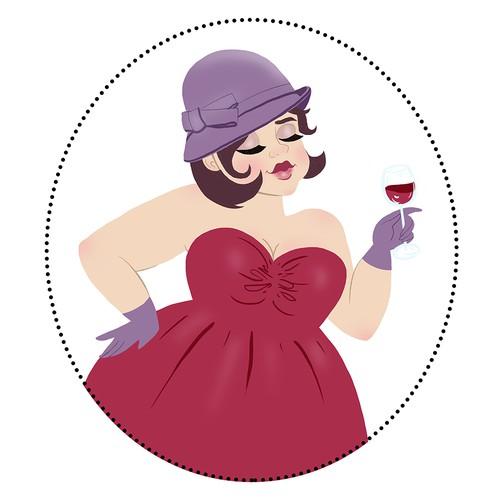 Illustration for wine label