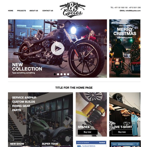 website for Motorcycle enthusiasts