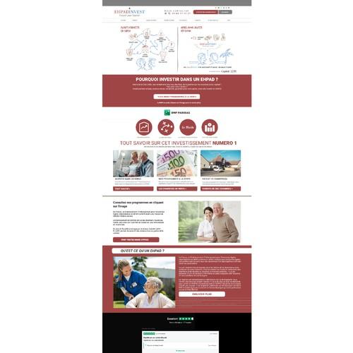 Refonte de siteweb pour fondes de retraite