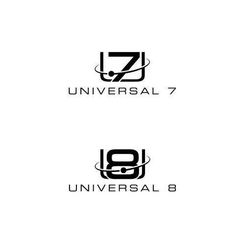 Logo for Universal 7 and Universal 8 guitars