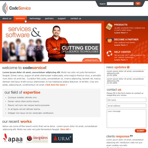 Open source company web page - no coding