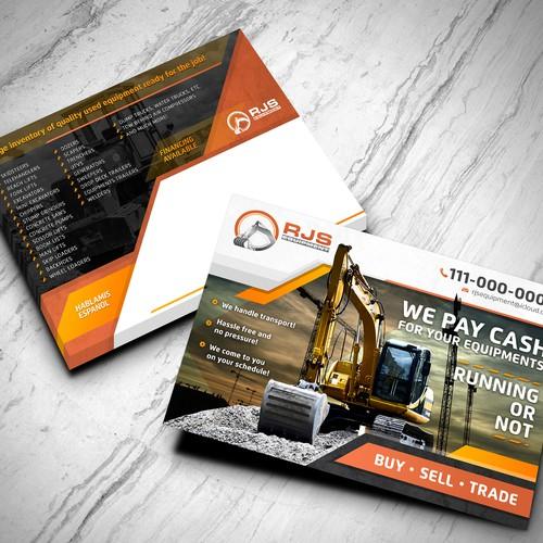 Postcard Design for RJS Equipment